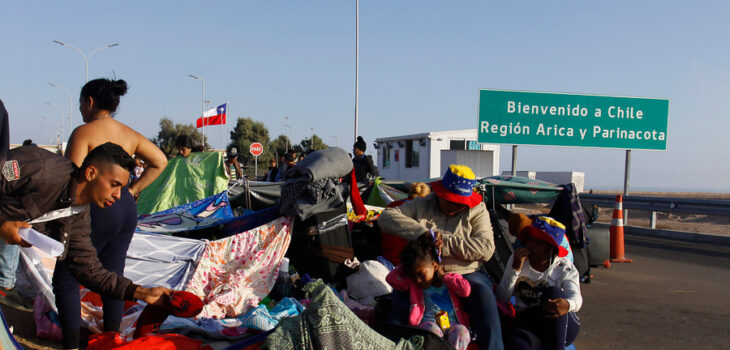 Migrantes venezolanos a Chile